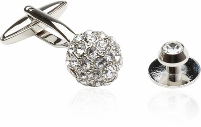 Crystal Ball Cufflinks Studs