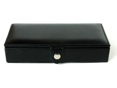 Cufflinks Box in Black Leather
