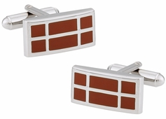Dark Orange Cufflinks