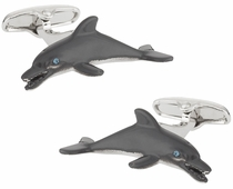 Dolphin Cufflinks Hand Painted
