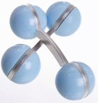 Double Ball Cufflinks Pastel Blue