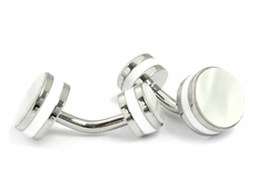 Double Faux Mother of Pearl Cufflinks