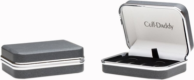 Framed Mother of Pearl Onyx Tuxedo Set Cufflinks Studs