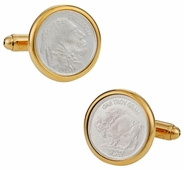 Genuine Silver Bullion Coin Cufflinks