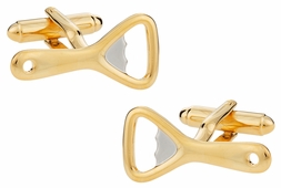 Gold Silver Bottle Opener Cufflinks