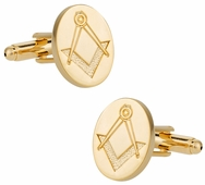Gold Tone Freemason Cufflinks