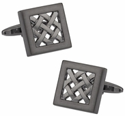 Gunmetal Lattice Cufflinks