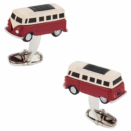 Hippie Bus Cufflinks Red