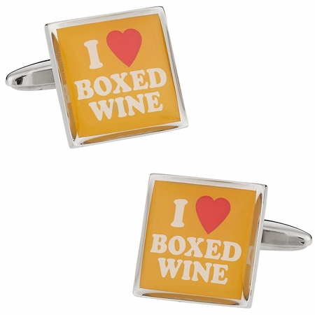 I Love Boxed Wine Cufflinks