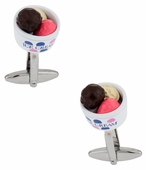 Ice Cream Cufflinks in a Bowl