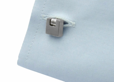 Innovative Brushed Silver Cufflinks