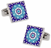 Kaleidoscope Cufflinks in Blue