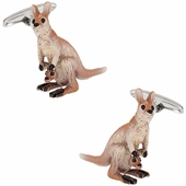 Kangaroo Cufflinks Hand Painted