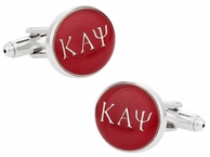 Kappa Alpha Psi Red Silver Cufflinks