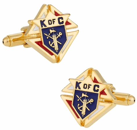 Knights of Columbus Goldtone Cufflinks