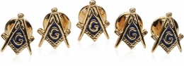 Masonic Stud Set with 5 Studs