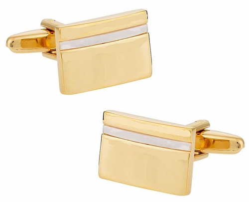 Mother of Pearl Goldtone Cufflinks