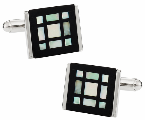Mother of Pearl Window Cufflinks