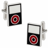 MP3 Player Cufflinks Black Red