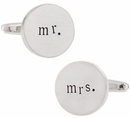 Mr. and Mrs. Wedding Cufflinks