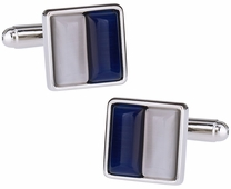 Navy & White Cufflinks