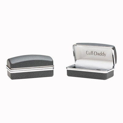 Ornate Two-Tone Stainless Steel Cufflinks