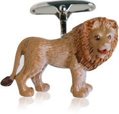 Painted Lion Cufflinks