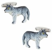 Painted Wolf Cufflinks