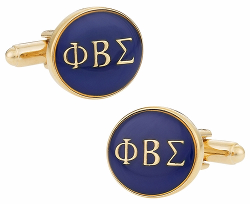 Phi Beta Sigma Blue Gold Cufflinks