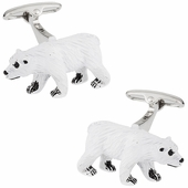 Polar Bear Painted Cufflinks