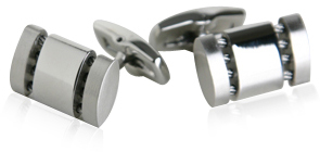 Polished Cable Cufflinks