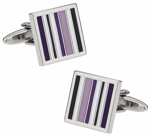 Purple Lined Cufflinks