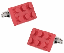 Red Building Block Cufflinks