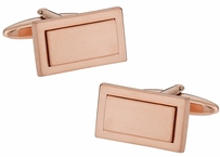 Rose Gold Geometry Cufflinks
