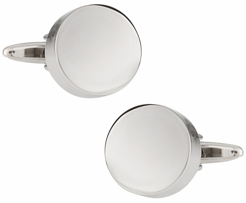 Round Engravable Cufflinks