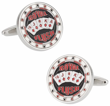 Royal Flush Poker Cufflinks
