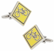 Share the Road Cycling Cufflinks for Cyclists