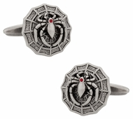Spider on Web Cufflinks