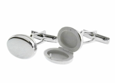 Sterling Locket Cufflinks for Photo
