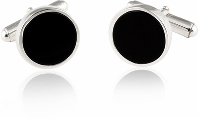 Solid 925 Sterling Silver Onyx Cufflinks & Studs
