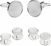 Sterling Silver Plated Mother of Pearl Formal Set