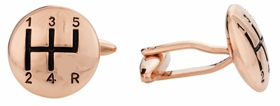 Stick Shift Cufflinks in Rose Gold