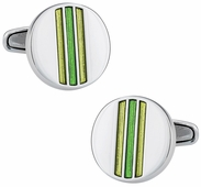 Striped Yellow & Green Cufflinks