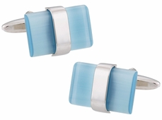 Suspended Blue Cufflinks