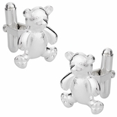 Teddy Bear Cufflinks in Sterling Silver