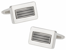 The Lines Metal Cufflinks
