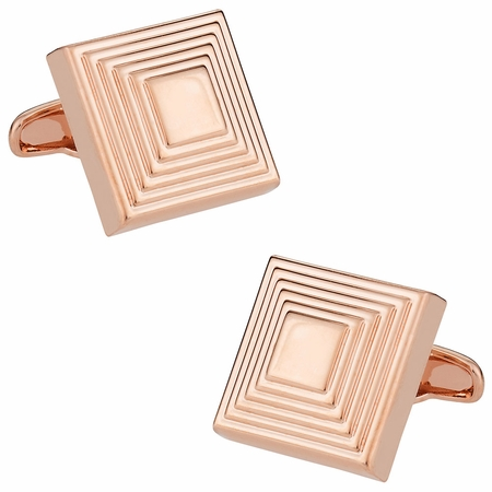 The Steps in Rose Gold Cufflinks