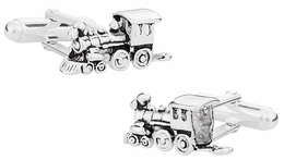 Train Cufflinks in Sterling Silver