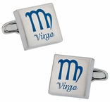 Virgo Zodiac Sign Cufflinks