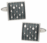 Water Drop Gray Cufflinks